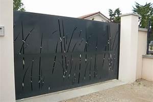 Vial Portillon Fer : portails acier lyon portails aluminium lyon mions portail ~ Premium-room.com Idées de Décoration