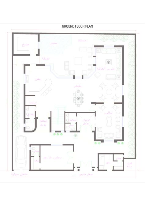 front elevationcom oman modern villa plan