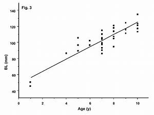 Bivariate Plot Of Baculum Length  Bl   Mm  Vs  Age  Y