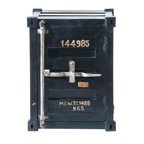 meuble chambre de bébé bout de canapé container en métal noir l 46 cm carlingue