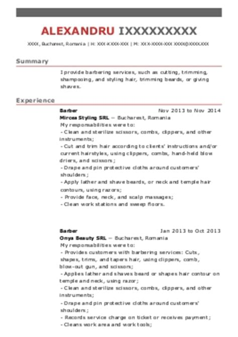 hairstylists and hairdressers cv exles and spa