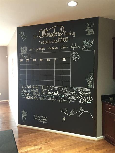chalkboard calendar wall home ideas   chalkboard