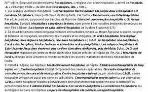 La Boheme Definition : hospitalier la d finition du terme hospitalier ~ Voncanada.com Idées de Décoration
