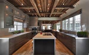 Rustic Industrial Design Modern Rustic Kitchen Designs