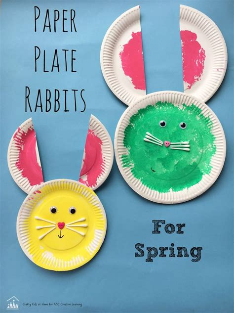 paper plate rabbits crafts woods  paper