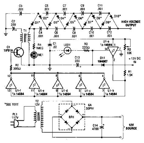 High Voltage Generator Circuit Diagram Electronic