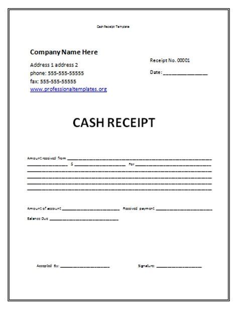 cash receipt template uk printable receipt template