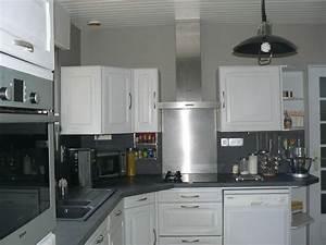meuble cuisine gris clair latest dlicieux meuble de With meuble cuisine gris clair