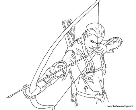 hawkeye coloring pages outline free printable coloring pages