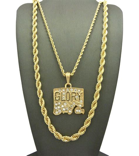 jesus necklace 2 chain set iced out boyz pendant with a