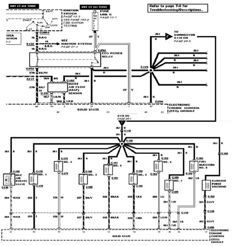 92 Mustang Eec Wiring Diagram by 92 Mustang Will Not Start Getting To The Plugs But