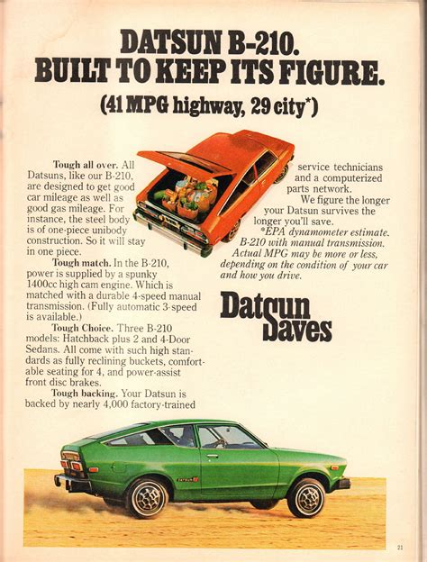 datsun   advertisement playboy march