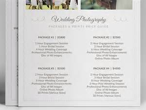 wedding photographer prices wedding photographer pricing guide psd template v3 on behance