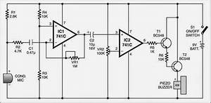 Simple Sound Scanner Circuit Diagram