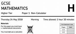3 Minute Maths - Aqa Gcse Maths Higher 2018
