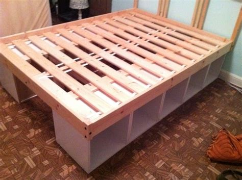 diy storage bed great for a kids bed low to the ground