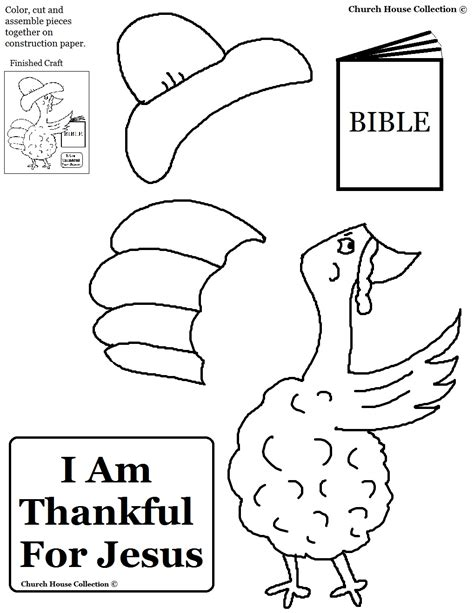 church house collection thanksgiving turkey quot i am thankful for jesus quot cutout activity