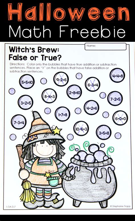 halloween printable math games festival collections