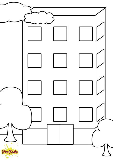 Ausmalbild Hochhaus  Kostenlose Malvorlagen