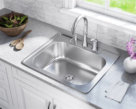ust single bowl topmount stainless steel sink
