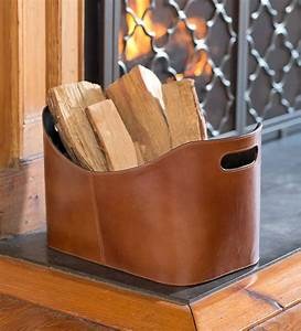 Leather, Log, Holder, And, Carrier