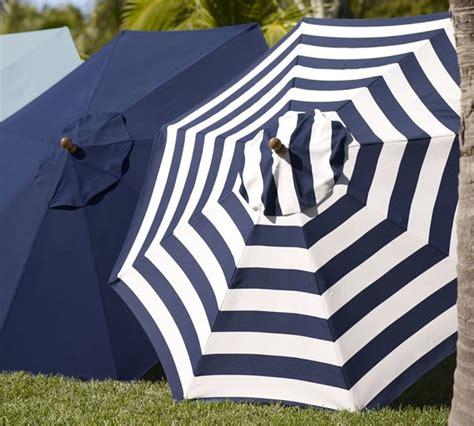 sunbrella umbrella awning stripe navy