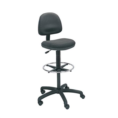extended drafting chair with footrest in black 3401bl