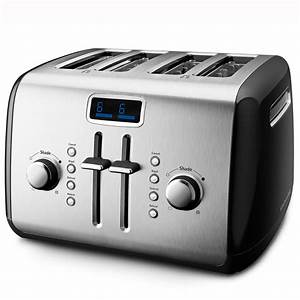 Kitchen Aid Toaster : kitchenaid kmt422cu 4 slice digital toaster contour silver home kitchen ~ Yasmunasinghe.com Haus und Dekorationen