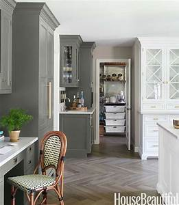 gray kitchen cabinets transitional kitchen benjamin With kitchen colors with white cabinets with silhouette wall art