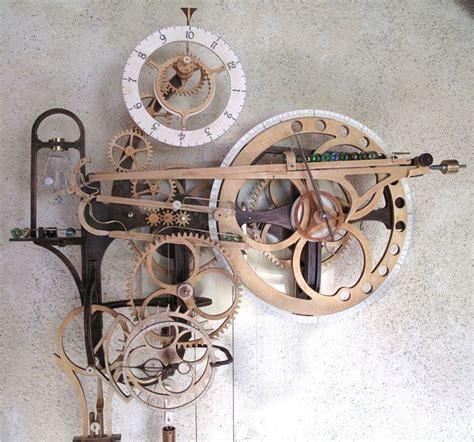 wooden gear clock plans  hawaii  clayton boyer furniture  wood pinterest wooden
