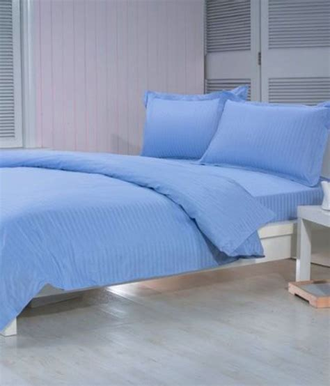 cotton sheets king trance sky blue bed sheet with 2 pillow covers