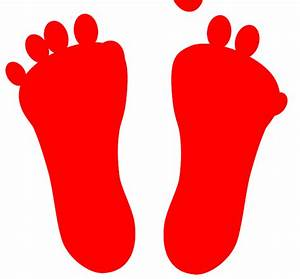 Image Gallery red footprints