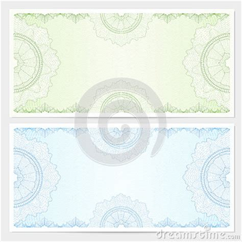 gift certificate voucher coupon template stock