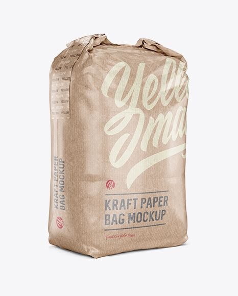 The trend of using kraft paper is changing day by day and with minimalistic branding, it really looks quirky. 2 kg Kraft Paper Bag Mockup - Front View - Kraft Paper ...