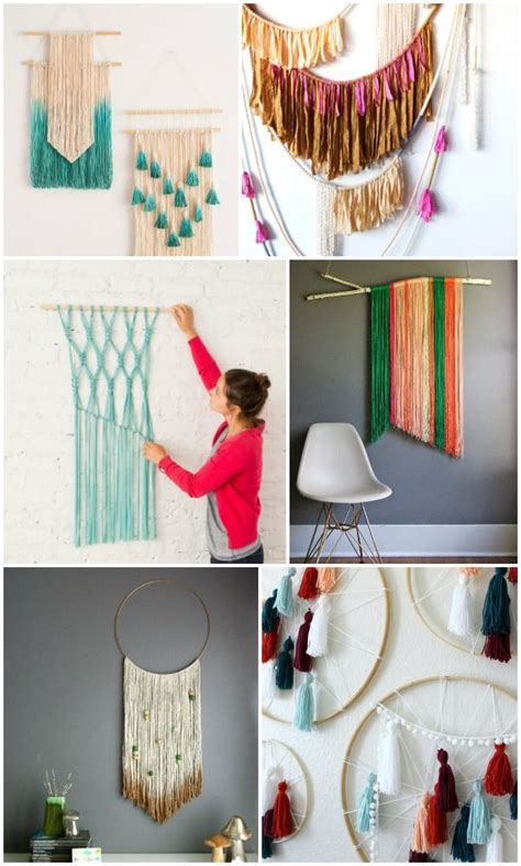 easy diy yarn art wall hanging ideas diy projects