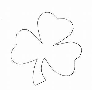 shamrock coloring pages coloring kids With shamrock cut out template