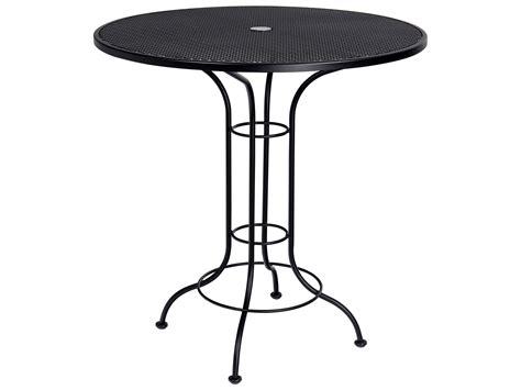 wrought iron pub table woodard aurora wrought iron 42 round mesh top bar height