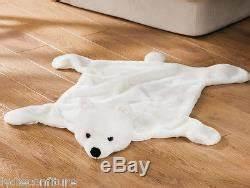 Descente De Lit Maison Du Monde : joli tapis descente de lit ou plaid pour enfant ours blanc fausse fourrure ~ Teatrodelosmanantiales.com Idées de Décoration
