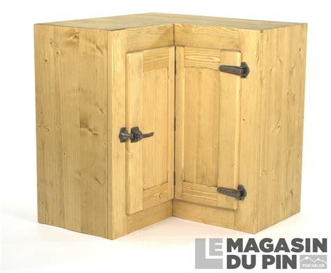 meuble haut d angle cuisine meuble haut d 39 angle pin massif pour cuisine avoriaz le