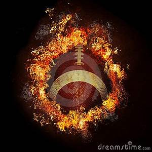 Production Management Football On Fire Stock Photos Image 13988073
