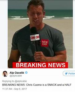 Oh my! Who knew CNN's Chris Cuomo had a body like this ...