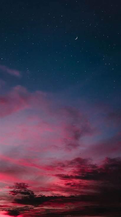 Sky Iphone Cloud Clouds Aesthetic Night Cielo