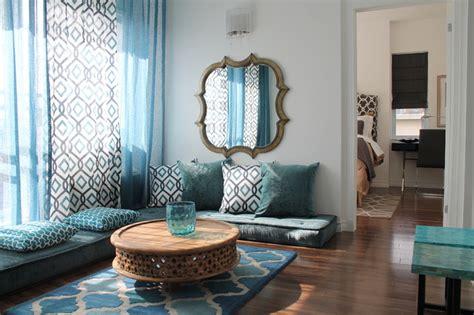 moroccan inspired condo  contemporary living