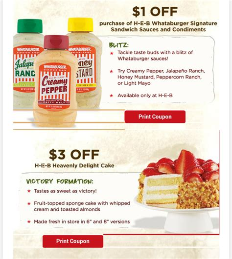 32433 Whataburger Printable Coupons by S Coupon Bargains Heb 8 Worth Of Coupons To Print