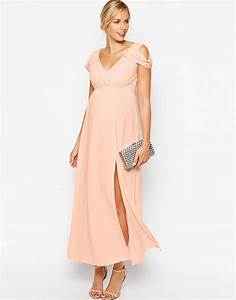 ravissante robe rose pale de grossesse longue pour With robe de ceremonie longue rose
