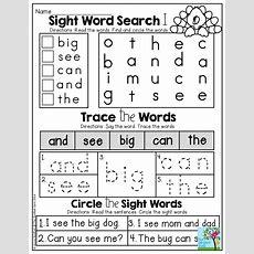 November No Prep Math And Literacy (kindergarten)  Classroom Ideas  Teaching Sight Words