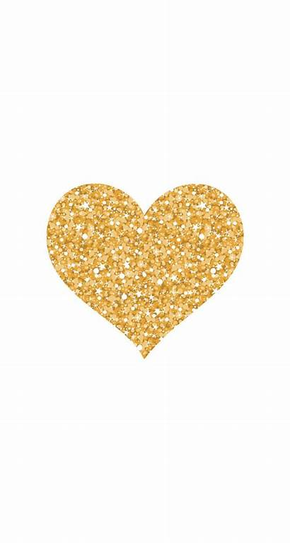 Heart Gold Glitter Clipart Wallpapers Hearts Background