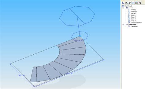 trichter berechnen kegelstumpf abwicklung konstruieren