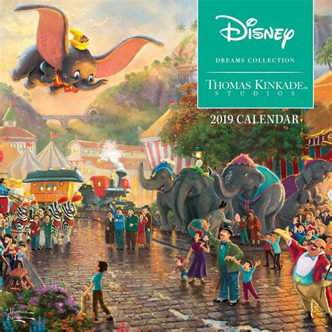 thomas kinkade disney dreams collection mini wall calendar