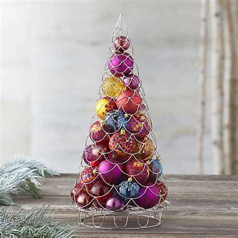 silver garland ornament tree  decor crate  barrel